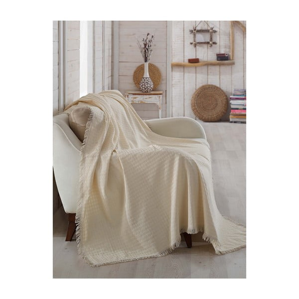 Přehoz z organické bavlny Queen, 180 x 230 cm