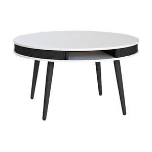 Černobílý konferenční stolek RGE Hugo