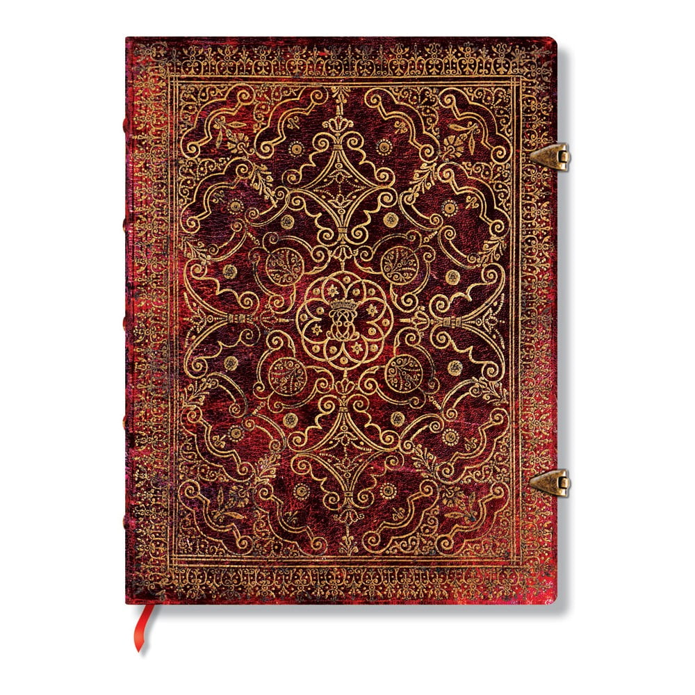 Červený linkovaný zápisník s tvrdou vazbou Paperblanks Carmine, 144stran