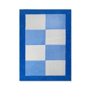 Dětský koberec Mavis Blue Checks, 100x150 cm