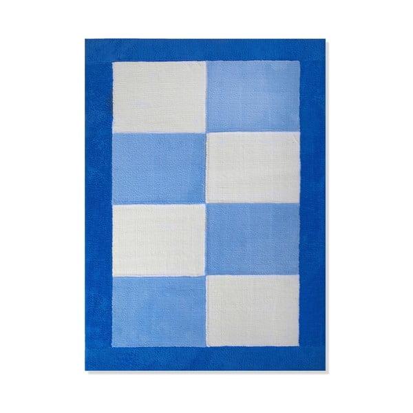 Dětský koberec Mavis Blue Squares, 120x180 cm