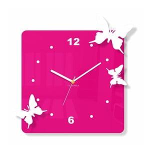 Hodiny z plexiskla Flying Pink