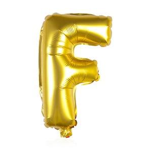 Balónek F zlaté, 30 cm
