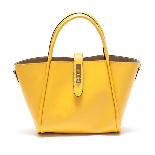 Žlutá  kožená kabelka Mangotti Walleriana