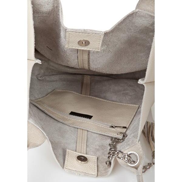 Béžová kožená kabelka Giorgio Costa Goshi