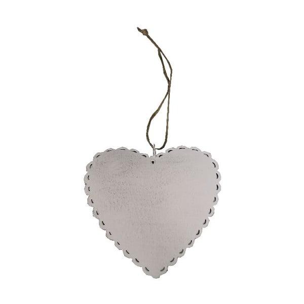 Závěsná dekorace Antic LineRomantic Heart, šířka12 cm