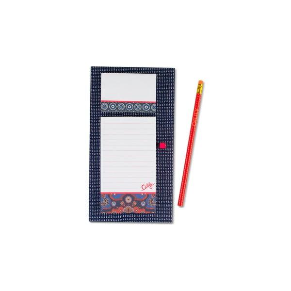 Linkovaný magnetický zápisník s lepícími papírky a tužkou Portico Designs Oilily