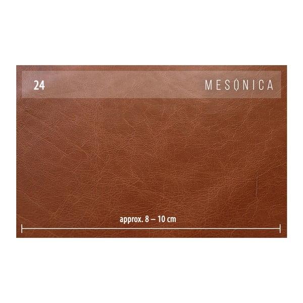 Koňakově hnědá kožená pohovka s lenoškou na levé straně MESONICA Musso Tufted