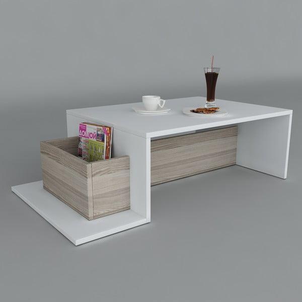 Konferenční stolek Pot White/Cordoba, 60x106,8x32 cm