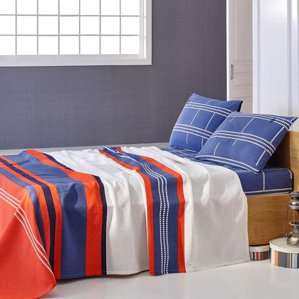 Sada přehozu přes postel a prostěradla U.S. Polo Assn. Paterson, 160x220 cm