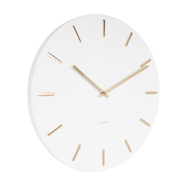 Bílé nástěnné hodiny Karlsson Charm
