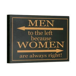 Cedule Men/Women, 16x25 cm