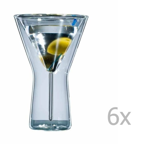 Sada 6 sklenic bloomix Martini