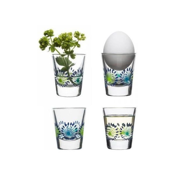 Sada 4 skleniček Fantasy 45 ml, zelená