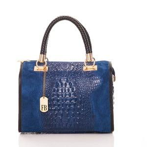 Modrá kabelka z pravé kůže Federica Bassi Dinah