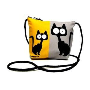 Taška přes rameno Žluto-šedé kočky