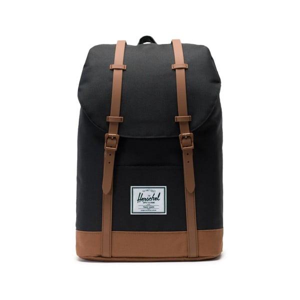Czarny plecak z brązowymi elementami Herschel Retreat, 19,5 l