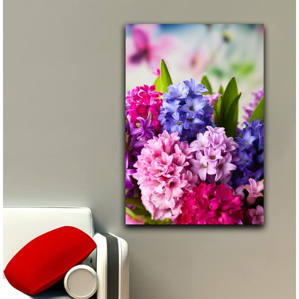 Obraz Růžová a fialová, 45x70 cm