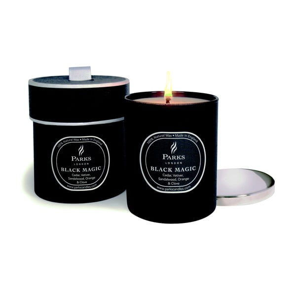 Lumânare parfumată Parks Candles London Magic, aromă de cedru și vetiver, 50 ore