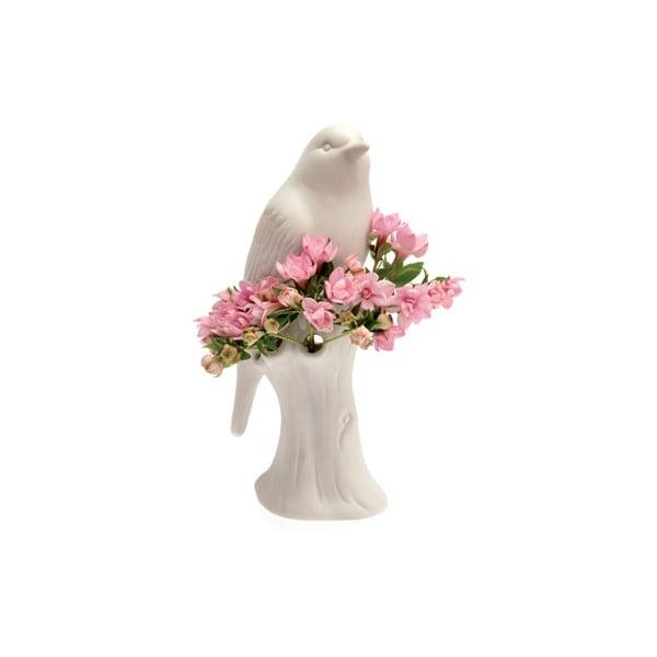 Váza porcelánový ptáček