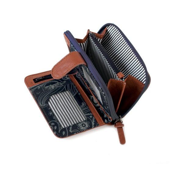 Modro-bílá peněženka SKPA-T, 14 x 9 cm