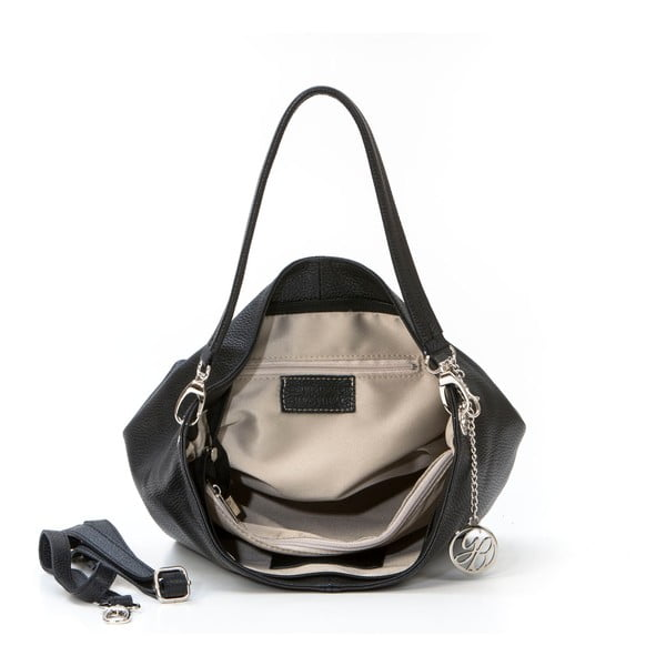 Kožená kabelka Marco, černá