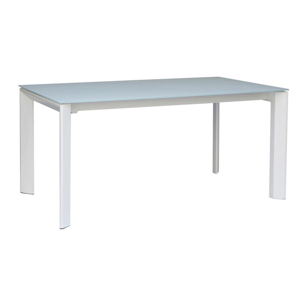Bílý rozkládací jídelní stůl sømcasa Lisa, 140 x 90 cm