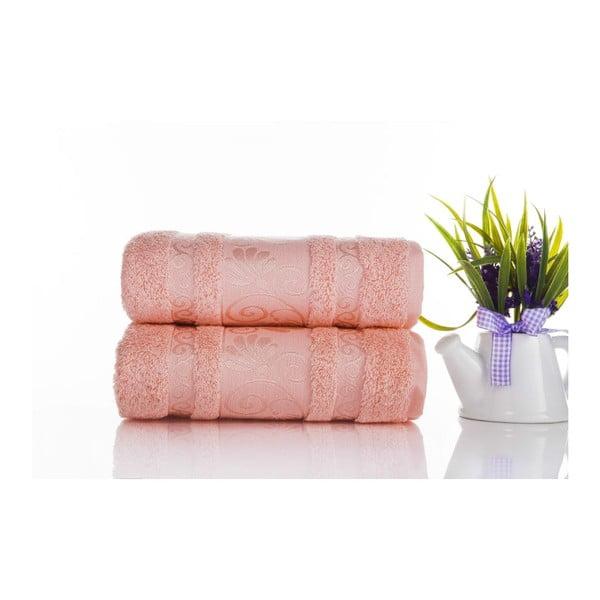 Sada 2ks ručníků Carmen Coral, 50x90 cm