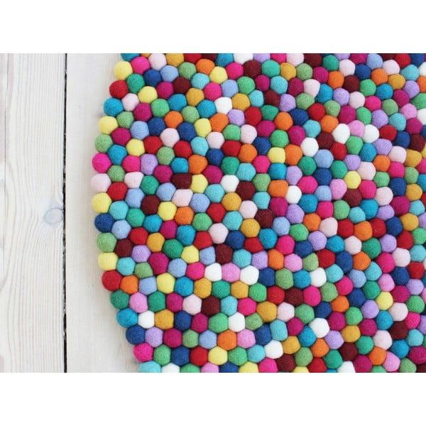 Kuličkový vlněný koberec Wooldot Ball Rugs Multi, ⌀ 120 cm