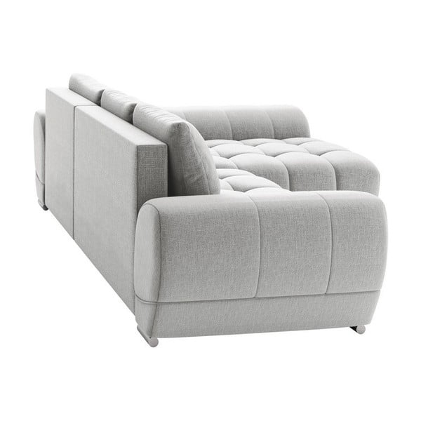 Canapea extensibilă de colț Windsor & Co Sofas Cloudlet, pe partea dreaptă, bej deschis
