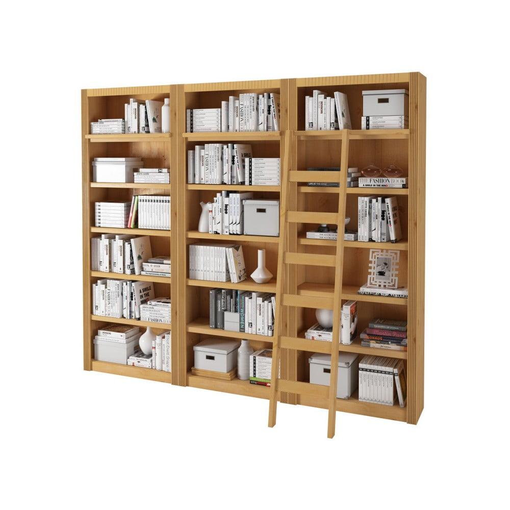 Knihovna z borovicového dřeva Støraa Bailey, 245x213cm