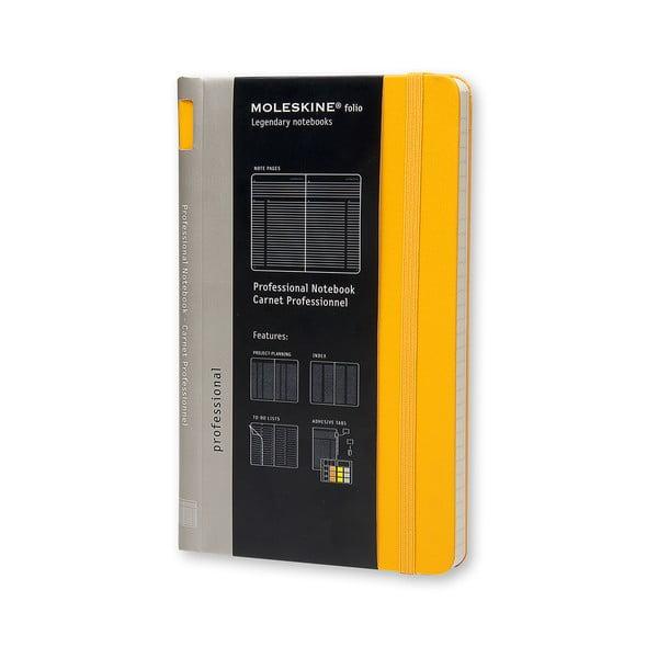 Zápisník Moleskine Folio, žlutý