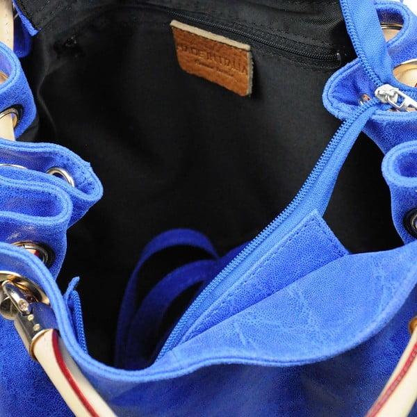 Kožená kabelka Lia Blue