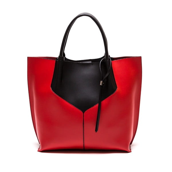 Kožená kabelka Anna Luchini 86,červená