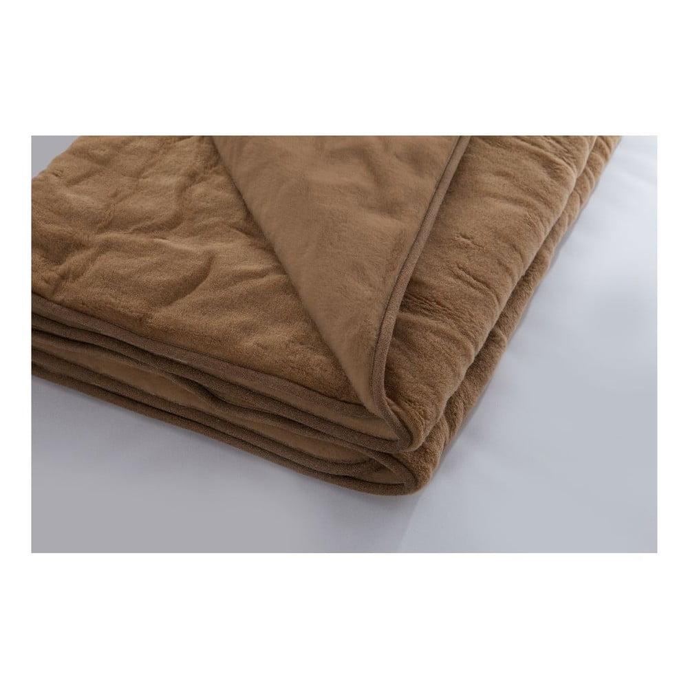 Vlněná hnědá deka Royal Dream Brownie, 140 x 200 cm