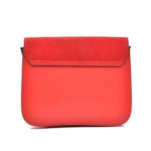 Červená kožená kabelka Mangotti Zoe