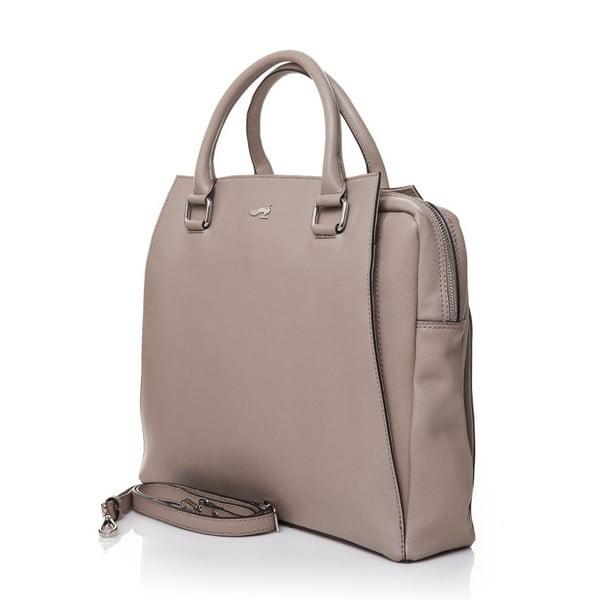 Kožená kabelka do ruky Marta Ponti Sandy, písková