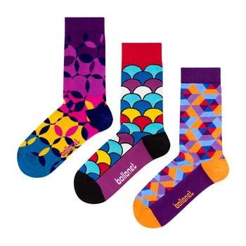 Set 3 perechi de șosete Ballonet Socks Geo în cutie de cadou, mărime 41 - 46