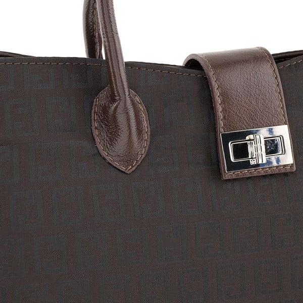 Kožená kabelka Tes Brown