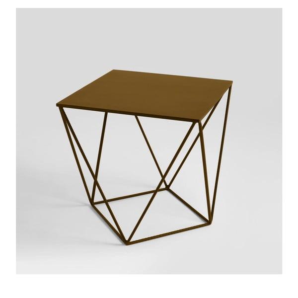 Daryl aranyszínű tárolóasztal, 60 x 60 cm - Custom Form