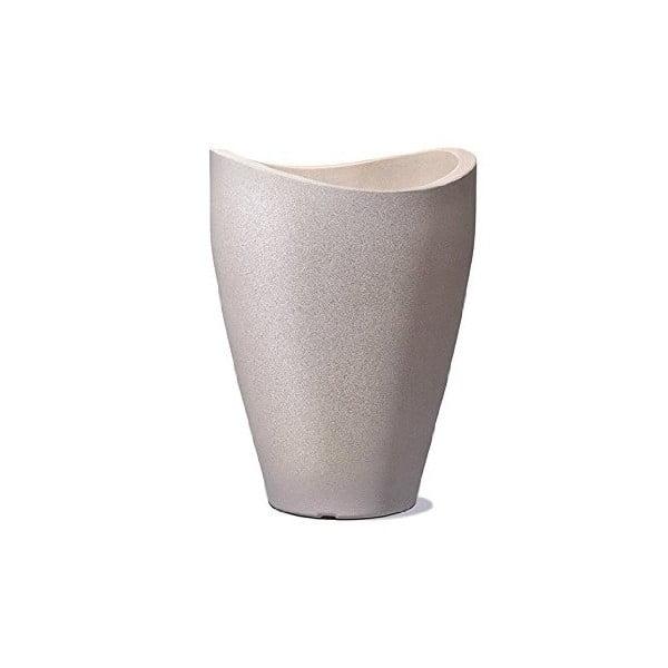 Venkovní květináč Wave 80x39,5 cm, hnědý
