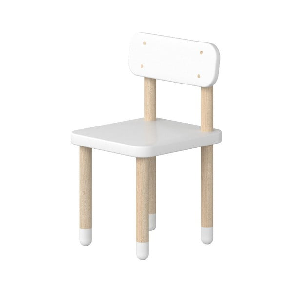 Biela detská stolička Flexa Dots