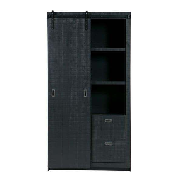 Čierna skriňa s posuvnými dvermi vtwonen Slide