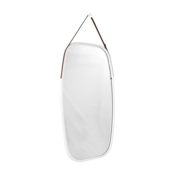 Nástěnné zrcadlo v bílém rámu PT LIVING Idylic, délka 74cm