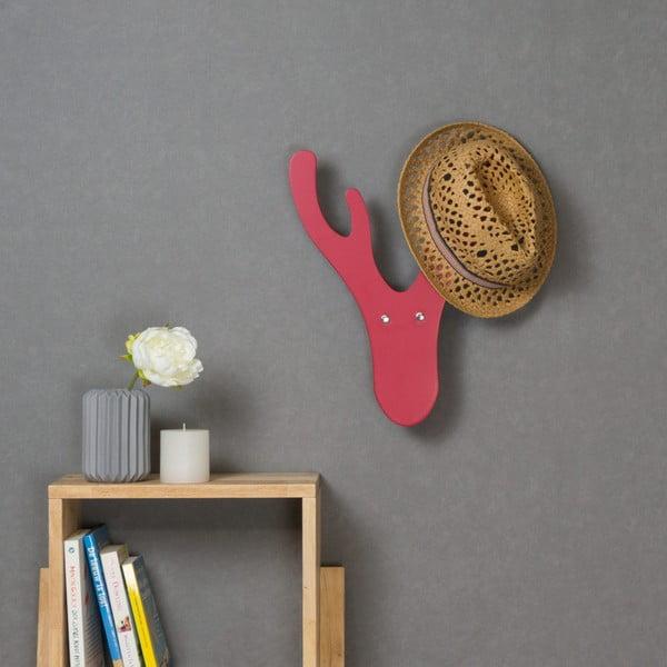 Cuier de perete Furniteam Reindeer, roșu