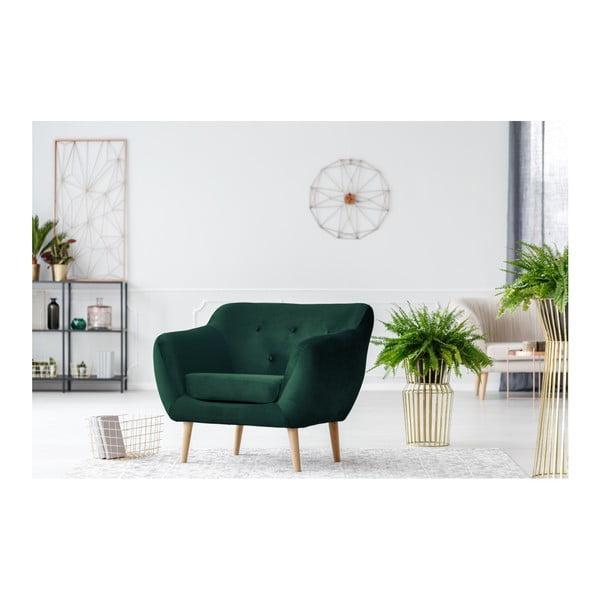 Fotoliu Mazzini Sofas AMELIE cu picioare negre, verde