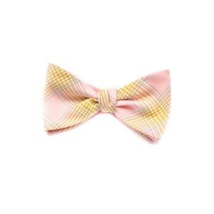 Oboustranný motýlek Classic, růžovožlutý