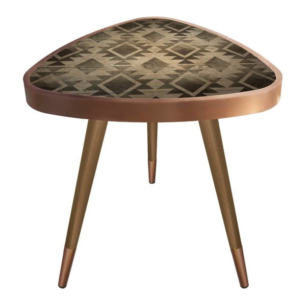 Príručný stolík Maresso Tile Triangle, 45 × 45 cm
