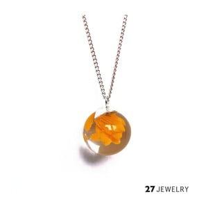 Žlutý náhrdelník ze skla Enamor