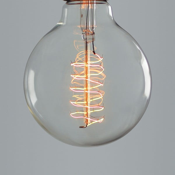 Žárovka Globe Spiral Edison E27 40W